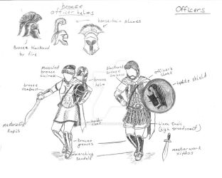 First Empress soldier designs: Officers by introvertedchaos