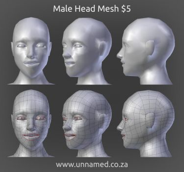 Male Head Model by YeshuaNel