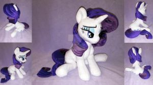 Rarity sit plush by DoctorKoda