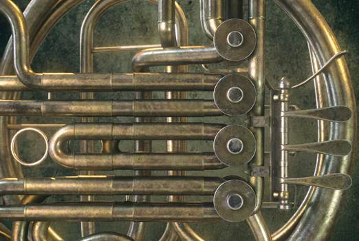 Old Rustic French Horn (Cinema 4D V-Ray Painter) by botshow
