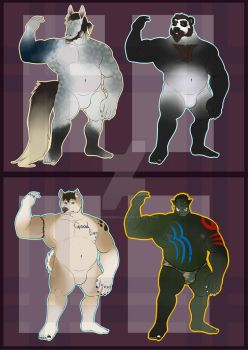 [ADOPTS] Musclegut Mega Batch! [4/4 OPEN] by kankurosdoll