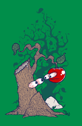 Tree and Apple T-shirt Design by Handre