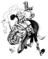 Hellboy by OuthouseCartoons