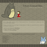 Totoro Journal Skin by floramisa
