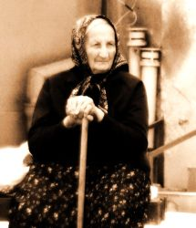 Old woman by chrystalcynic