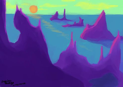 30min Background (Alien Sunset) by LupineIndigo