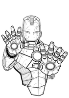 I AM IRON MAN Lineart by BouncieD