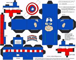 Marvel 1: Captain America Cubee by TheFlyingDachshund