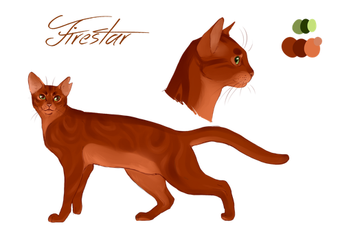 Firestar character design by Whitefeatherink