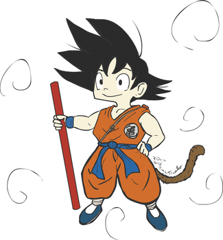 Son Goku by The-Time-Traveller