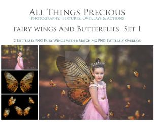 Butterfly and Fairy Wings Overlay SET 1 by AllThingsPrecious