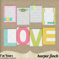 I'm Yours Journal Cards by harperfinch