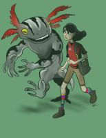 Early design of Jack and Xolotl. by neotonic