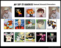 My Top 13 Favorite Samuel Vincent Characters by Prentis-65