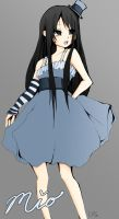 Mio from K-ON by luvvs2drawanime