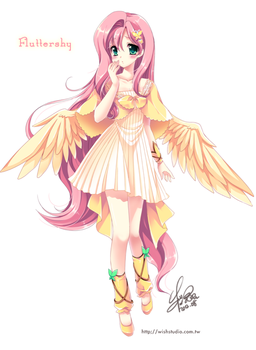 [MLP]Fluttershy of moe anthropomorphism by SakuranoRuu