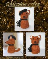Monsieur Fox- pattern available by NekoMarik