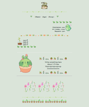[F2U] Non-CORE Custom box- Pastel green leaf by DiddyLyn