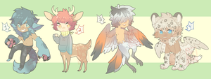 [Adoptables] Auction - Monster Boys [CLOSED] by Yobot