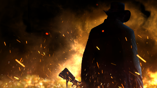Red Dead Redemption 2 - Cleaned trailer wallpaper by MuuseDesign
