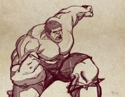 Hulk Sketch by Mro16