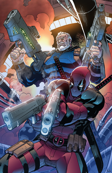 Cable and Deadpool by Furlani