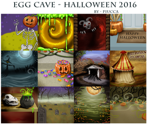 Egg-Cave---Halloween-2016 by Piucca