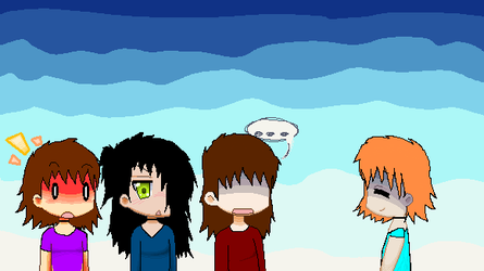 My four new ocs all together (yay) by ILOVECAKEANDCRACKERS