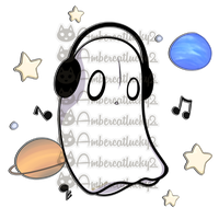 DJ Space Ghost Napstablook by Ambercatlucky2