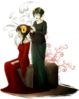 Aradia and Kanaya by odifen