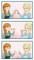 Elsa's Magic Trick by mrgardenart