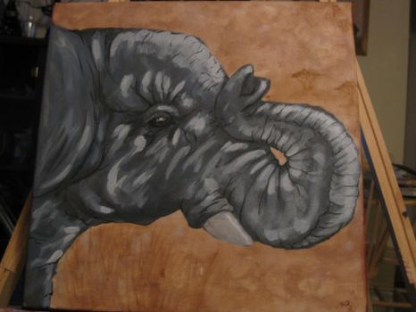 Elephant painting by evolra