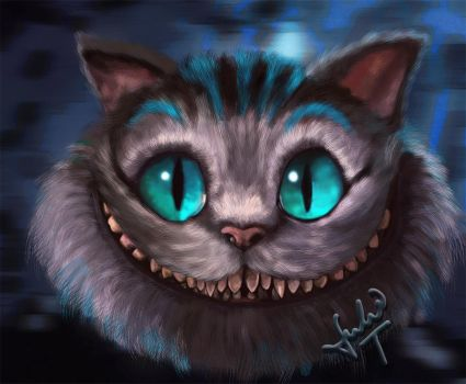 Cheshire - Alice in Wonderland by Julie-Tr