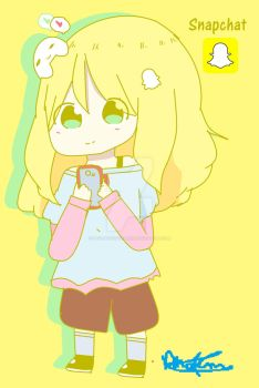 Chibi Snapchat-chan~ by Phoems17cutieplier