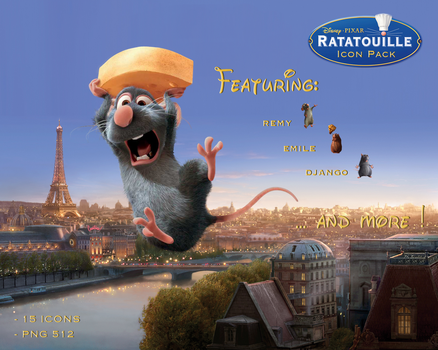 Ratatouille Icon Pack by TrabzonSport