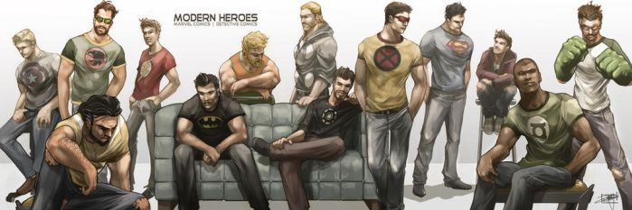 Marvel and DC Men's Photoshoot by daguillo84