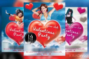 Valentines Party Flyer Template by mkrukowski