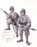 Imperial Japanese Soldiers by AngusBurgers