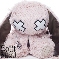 Rose Quarz Bunny by splitmindplush