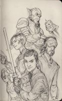 Star Wars Rebels Sketch by Jordy-Knoop