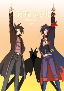 Chazz and Simon BdayPresent XD by Renny08