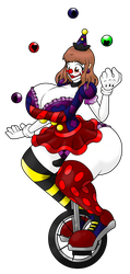 Mizuna Clowning Around White by LuckyBucket46