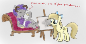 Draw me like one of your french ponies~ by Headcrabik
