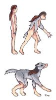 Male wolf transformation by Skychaser