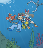 Diving for Trouble by underwatertoons