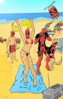 Deadpool Corp on vacation by GeorgeGraybill
