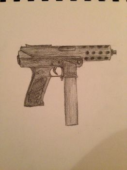 TEC-9 semi-automatic handgun. by Equide--Designs