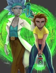 Rick and Morty by SteveMillersArt