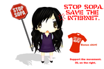 MMD DL: Stop SOPA! by Purple-RageMMD