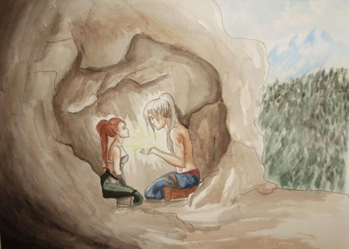 In the Cave by BloodKisses-Rayn